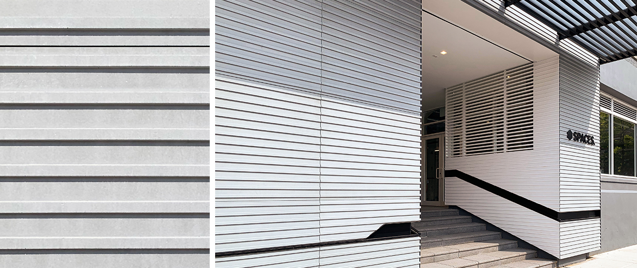 175 Pearl Street (Brooklyn, NY) features 1,400 ft² (130m²) of custom ribbed TAKTL Architectural UHPC rainscreen cladding panels.